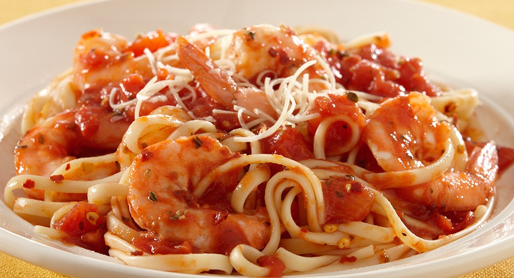 SHRIMP MARINARA PASTA